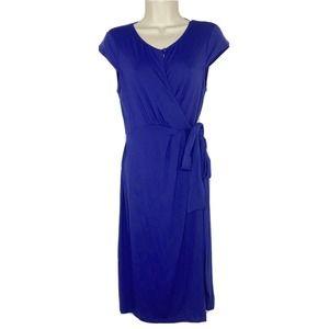 Seraphine Maternity Wrap Cap Sleeve Dress
